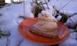 Snowy PB banana soft serve